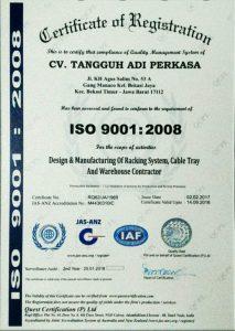 Sertifikat ISO 9001 CV TAP